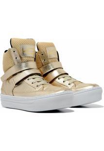 Sneaker K3 Fitness Smooth Dourado - Kanui