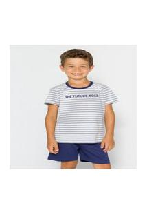 Pijama Infantil Menino Manga Curta 52010024