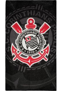 Toalha De Banho Bouton Veludo Torcida Corinthians