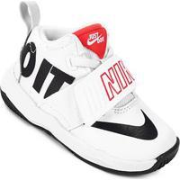 114edcef6b6 Netshoes. Tênis Infantil Couro Nike Team Hustle D 8 Jdi Bt Masculino ...
