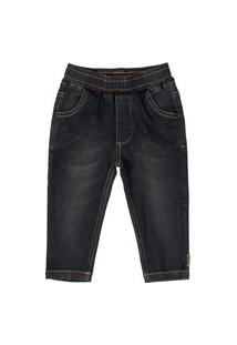 Calça Jeans Com Elastano Up Baby Preto