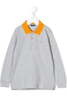 Il Gufo Camisa Polo Mangas Longas - Cinza