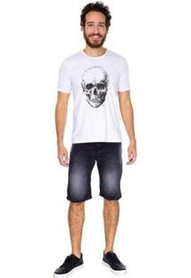 Bermuda Jeans Slim Tng Masculina - Masculino-Preto