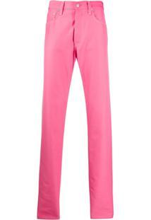 Helmut Lang Calça Jeans Reta Masc Hi - Rosa