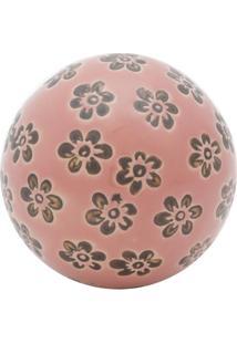 Bola Decorativa Floral Rosa 5,5X5,5X5,5