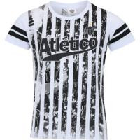 Camiseta Do Atlético-Mg Player Feminina - Infantil - Branco 321853016f32b