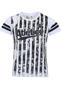 Camiseta Do Atlético-Mg Player Feminina - Infantil - Branco