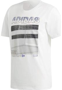 Camiseta Manga Curta Fitness E Funcional Adidas Must Haves Photo Branca
