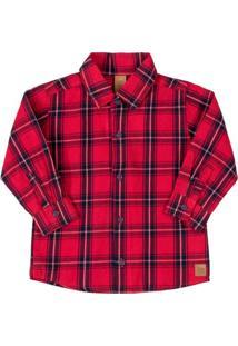 Camisa Infantil Xadrez Vermelho