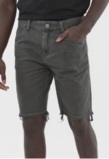Bermuda Jeans John John Reta Bolsos Cinza