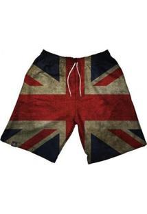 Bermuda Maromba Fight Wear Dry Inglaterra Com Bolsos Masculina - Masculino-Preto