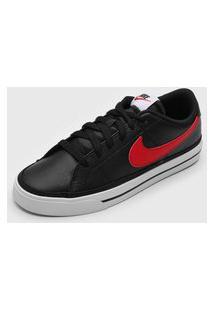 Tênis Nike Sportswear Court Legacy Preto/Vermelho