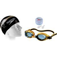 Kit De Natação Speedo Swimkit 30 Dourado (Touca 1cca3fbce24e6