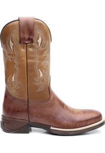 Bota Texana Osso Escuro Com Texas Floather 56297 - Masculino-Marrom