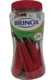 Faqueiro Itaparica Vermelho Com 24 Peças Ref: 6000/752