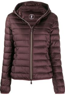 Save The Duck Quilted Zip-Front Jacket - Roxo