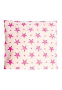 Capa De Almofada Estrela 45X45 Cor: Bege - Tamanho: Único