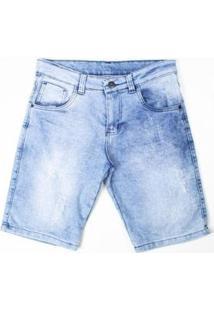 Bermuda Jeans Puído Besni Masculina - Masculino-Azul