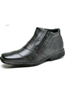 Bota Social Top Franca Shoes - Masculino-Preto