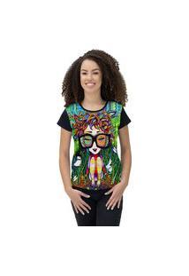 Camiseta Ramavi Feminina Doll Preto Preto Gg
