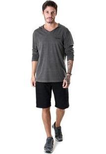 Bermuda Jeans Black Oprk Masculina - Masculino-Preto