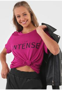Camiseta Colcci Intense Pink