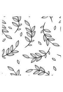 Papel De Parede Floral Galhos Preto E Branco 57X270Cm