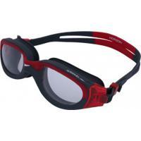 3f280b339b306 Centauro. Óculos De Natação Speedo Horizon - Adulto - Vermelho Cinza