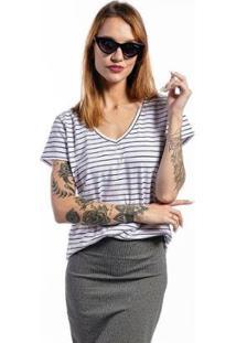 Camiseta Cia Gota Listrada Basic Feminina - Feminino