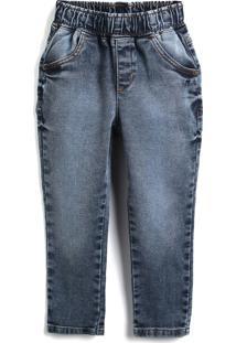 Calça Jeans Jeans Colorittá Menino Estonada Azul