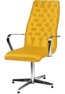 Cadeira De Escritório Presidente Suede Amarelo