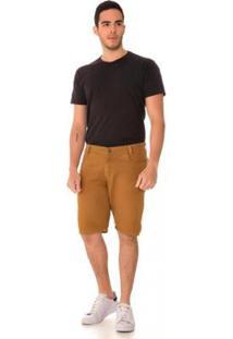 Bermuda Jeans Express Allan Masculina - Masculino-Marrom