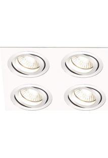 Spot Embutir De Alumínio Ecco 5Cmx34Cmx34Cm Bella Iluminação Branco