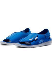 Sandália Infantil Nike Sunray Adjust 5 V2 - Masculino-Azul+Cinza