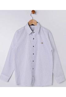 Camisa Manga Longa Juvenil Para Menino - Branco