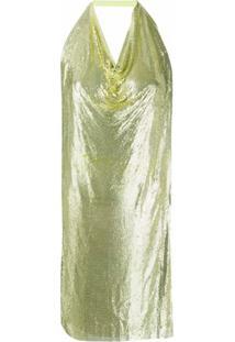 Poster Girl Vestido Helena Mini Com Paetês - Amarelo