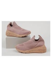 Tênis Feminino Oneself Sneaker Chunky Knit Rosa