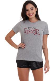 Camiseta Basica Joss Only Rock Cinza