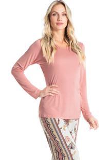 Pijama Longo Estampado Bianca