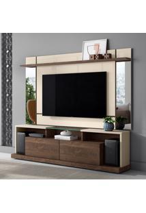 Rack Com Painel Para Tv Até 65 Polegadas Malibu Off White E Madero 200 Cm