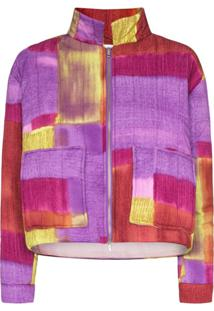 Collina Strada Quilted Patchwork Jacket - Roxo