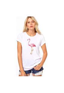 Camiseta Coolest Flamingo Branco