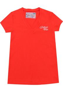 Camiseta Colcci Fun Menina Escrita Vermelha