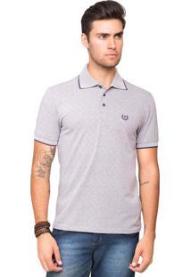 Camisa Polo Malha Tony Menswear De Algodão Com Gola Listrada Branco 97b862710075d
