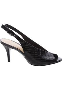 Peep Toe Vamp Slingback Black | Schutz