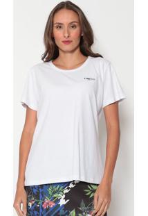 Camiseta Com Estampa Posterior- Branca & Preta- Cocacoca-Cola
