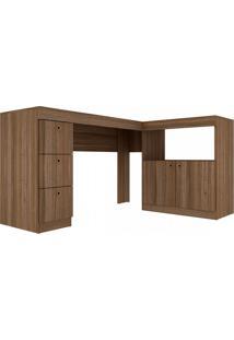 Mesa Para Computador C/ 2 Portas E 3 Gavetas Bc 74 Office – Brv Móveis - Carvalho