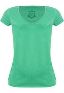 Camiseta Aleatory Feminina Gola V Básica - Feminino