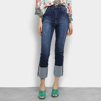 f5a992f65 Calça Jeans Reta Mob Estonada Cintura Média Feminina - Feminino
