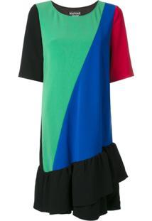 Boutique Moschino Vestido Color Block - Estampado